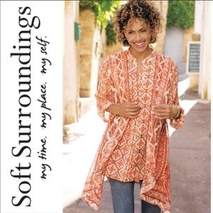 New Soft Surroundings Paysan Tunic Voile top
